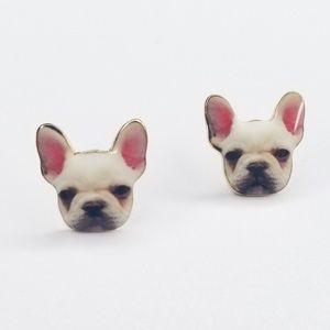 Jewelry - NEW Cute Stud French Bulldog Dog Earrings